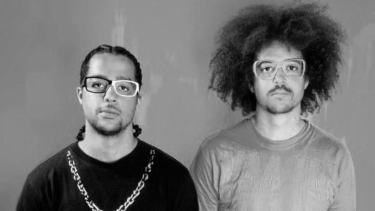 "LMFAO - An electro-hop group from Hollywood that consists of DJ/rappers Redfoo and Sky Blu, LMFAO is currently signed to Interscope Records. They have a single titled ""I'm in Miami Trick"" which peaked at #60 on the Billboard Hot 100. They played a show with SHP in 2008 at the Temple Bar in Santa Monica."