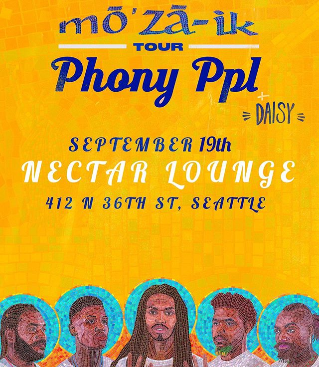 Time to get groovy #Seattle! @phonyppl are coming to you LIVE AND DIRECT at the @nectarlounge on september 19th! Get your tickets at SHPTickets.com !