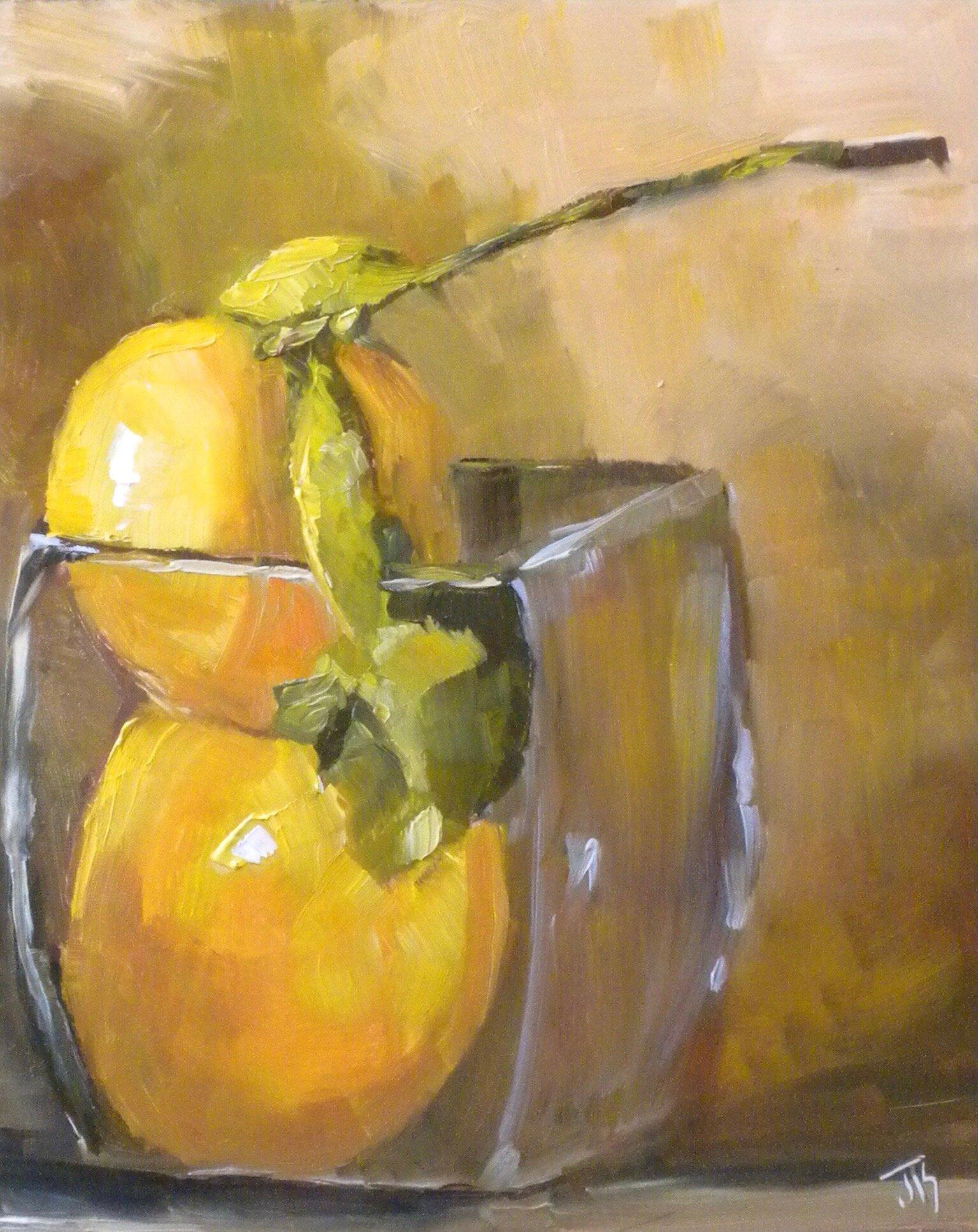 Lemonade?   Oil on Board   8 x 10
