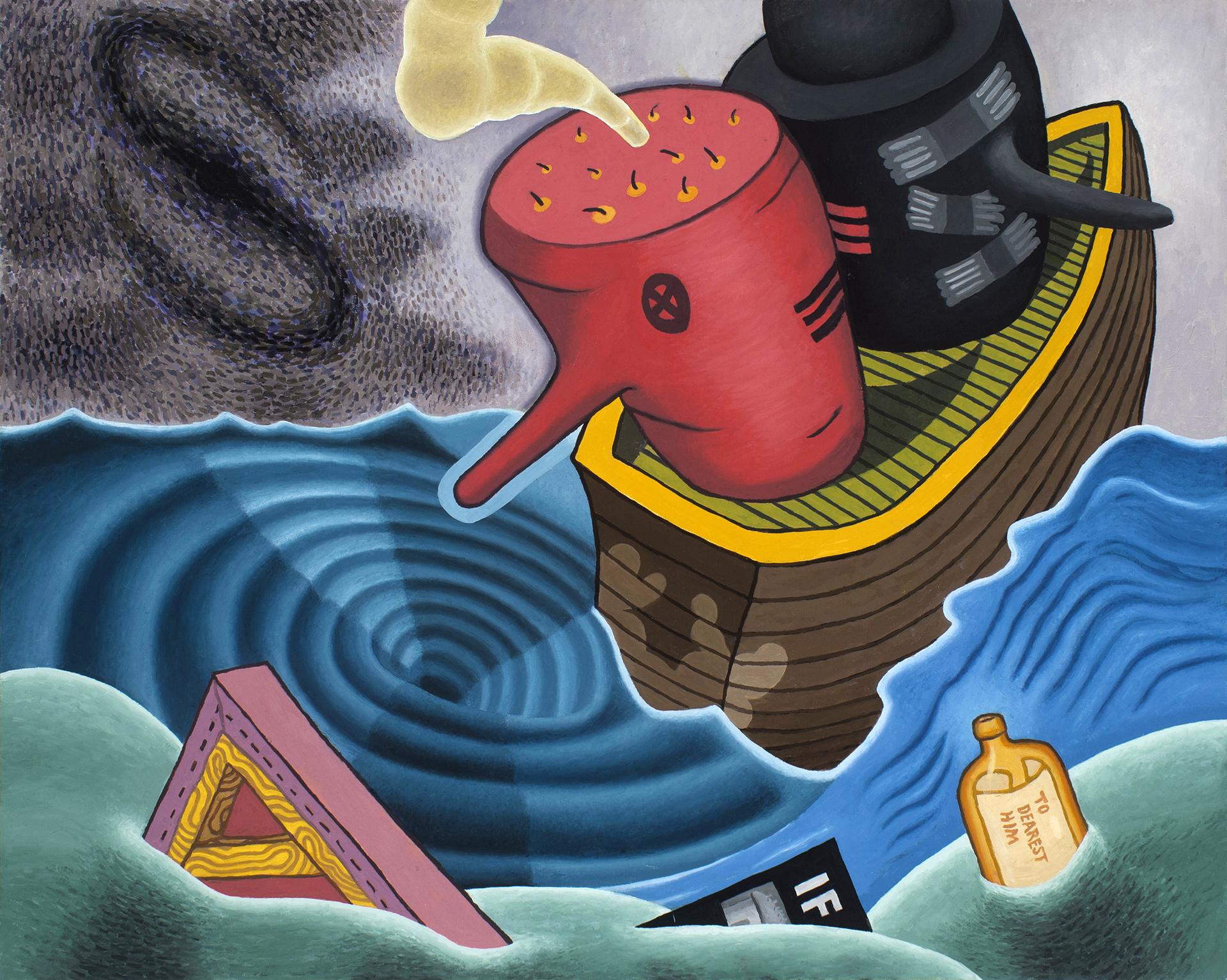 Paul Gillis 'Whirlpool' 2016 Oil on Board, 24 x 30 in