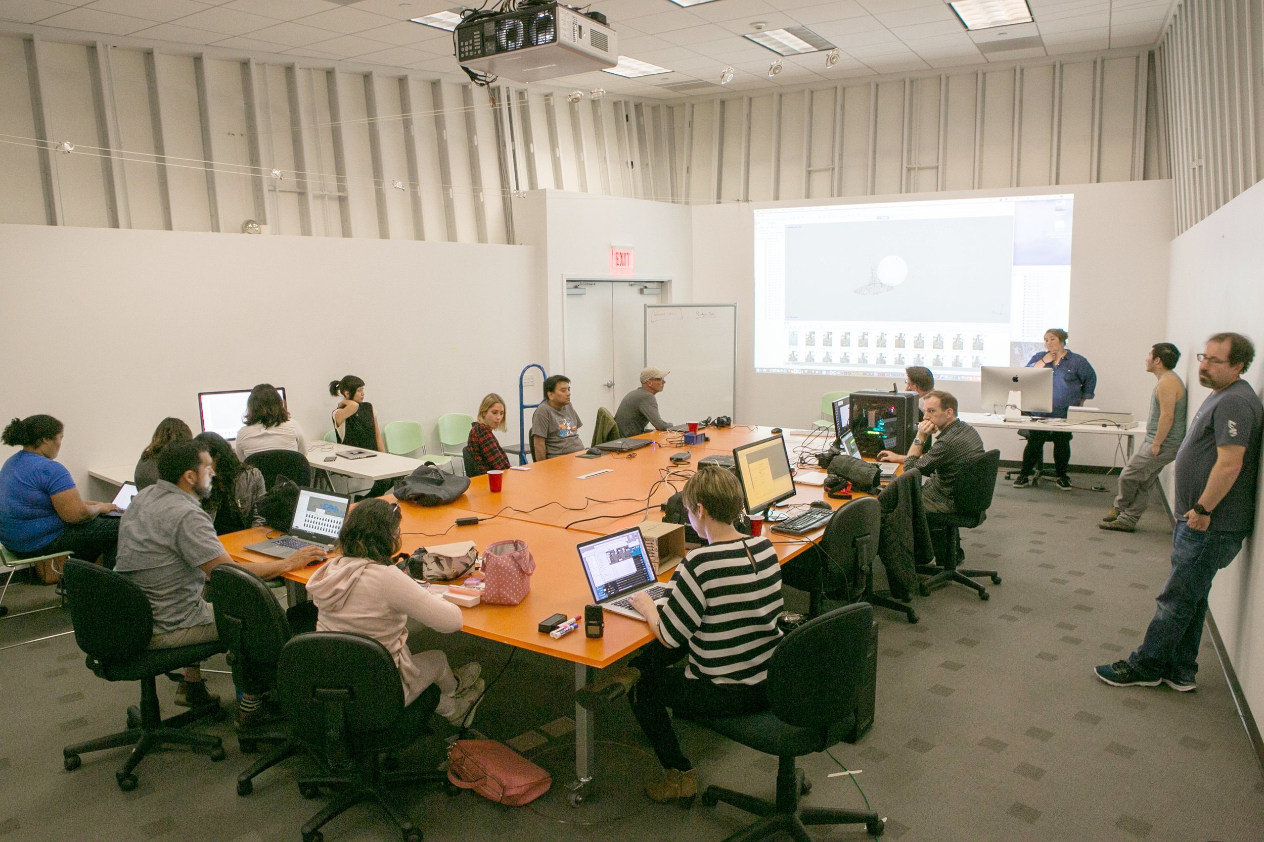 AI research community member Tricia Stokes teaches a Photogrammetry workshop.