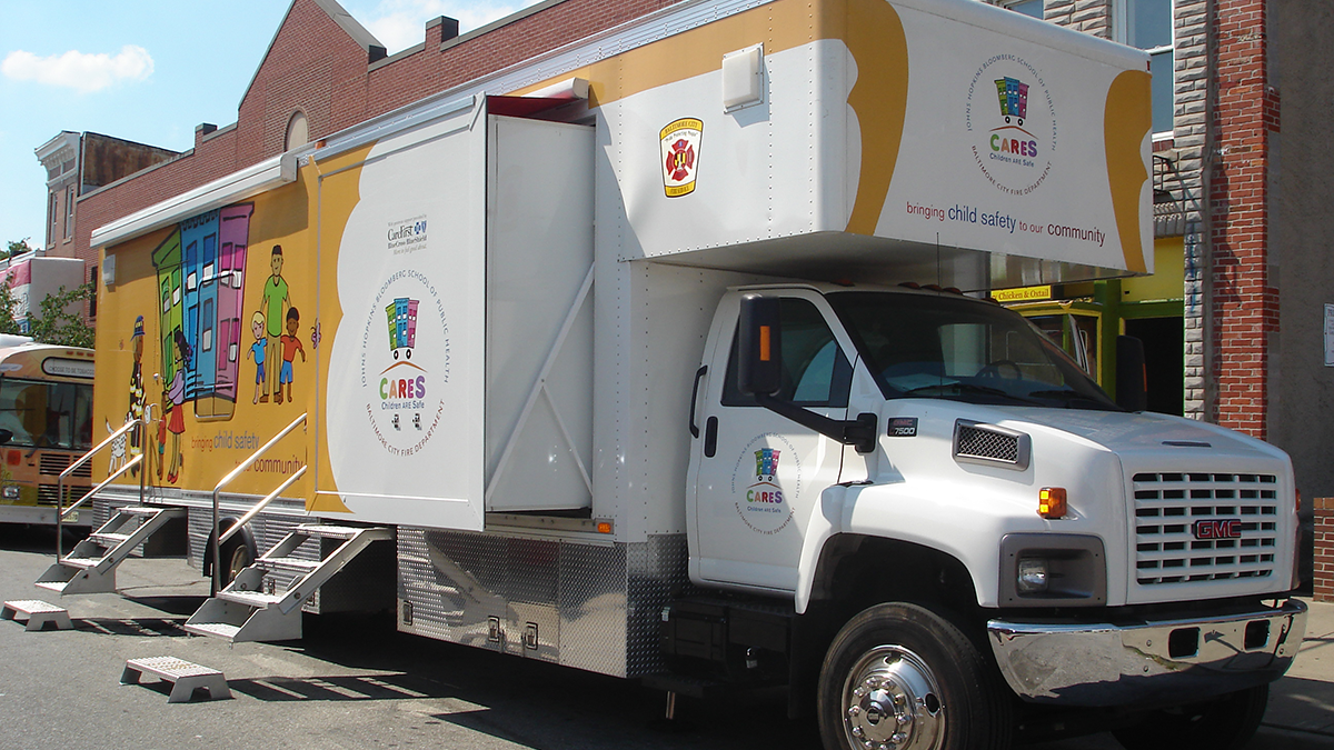 Current iteration of the CARES Mobile Safety Center