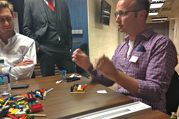 Explaining the challenge at the Lego: Serious Play workshop