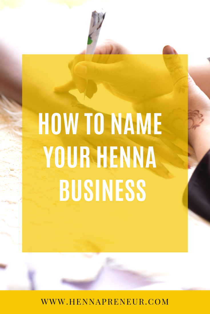 how to name your henna business