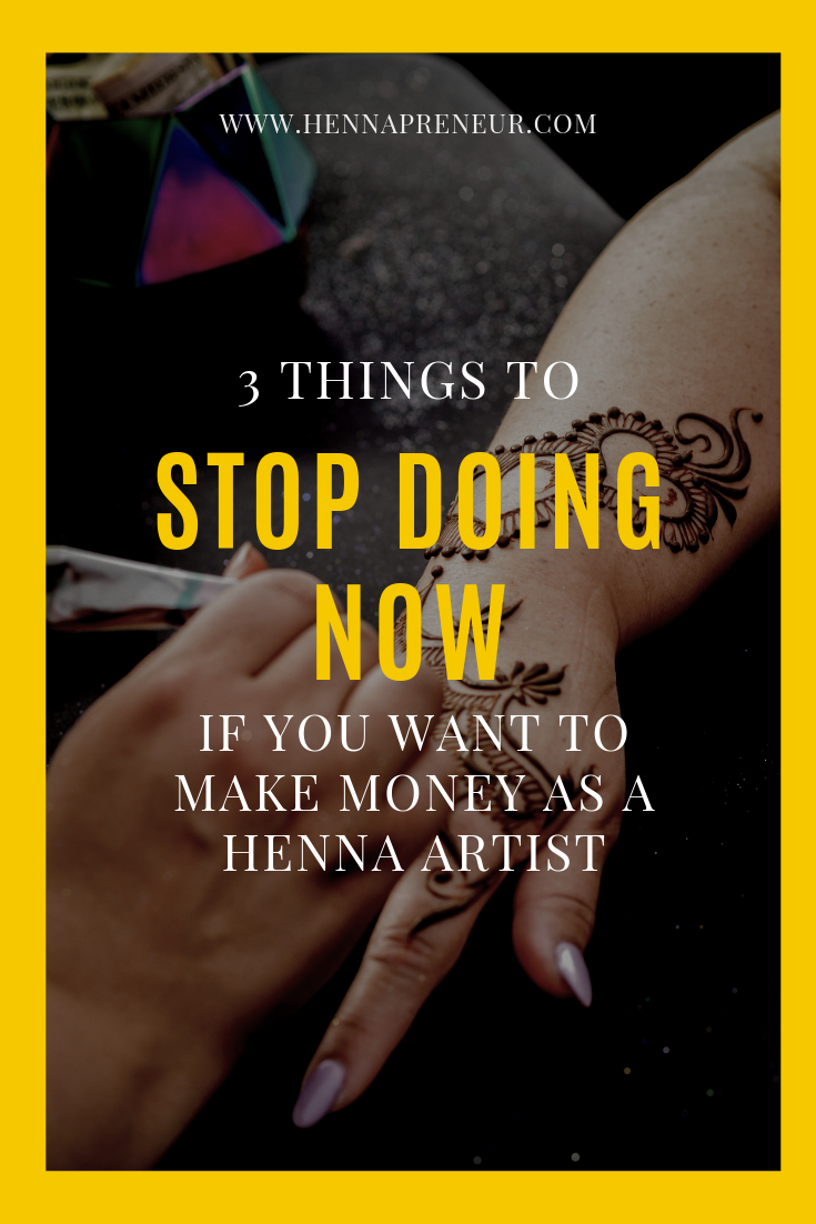 business tips for henna artists