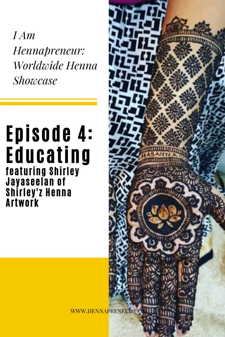 Shirley Jayaseelan Shirley'z Henna Artwork Kuala Lumpur Malaysia Henna Artist Hennapreneur Henna Artist Showcase
