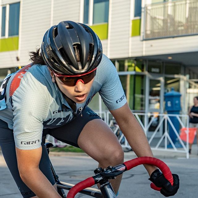 @nonor456 powered to first place in he women's @fyxation  Crit last night.  Let's do it again tonight!  @orangesealed @girocycling @aventonbikes @irwincycling @marquecycling @rokacycling #fixie #fixedgear #fixiegoon #bikeracing #bikelife #tourofamericasdairyland