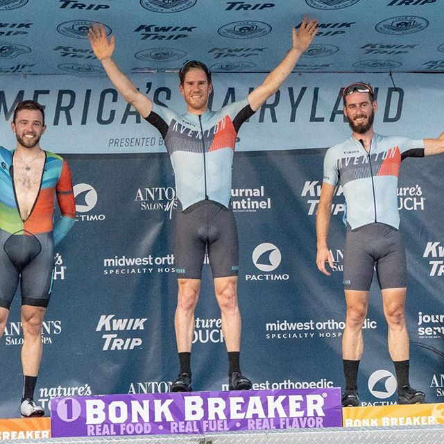 @daveonbike 1st and @chiappuchi 3rd at the @fyxation Crit last night. Looking forward to racing tonight !  Thanks @aventonbikes @irwincycling @marquecycling @girocycling @orangesealed  @rokacycling #fixedgear #fixie #fixedcrit #cycling #tourofamericasdairyland