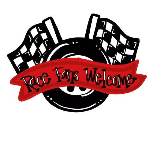 Racing Door Hanger Size Downloadable File