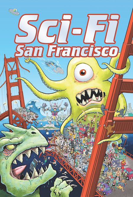 Sci-Fi San Francisco - Step into the Bay Area's future with Sci-Fi San Francisco, an anthology of speculative fiction comics covering everything from secret societies, hyper-evolved cats, robotic gentrifiers, time traveling tech workers, and interdimensional real estate hunts!Buy the physical or digital comic on Gumroad.Want to stock Sci-Fi San Francisco? Contact me.Cover by Chuck Whelon.