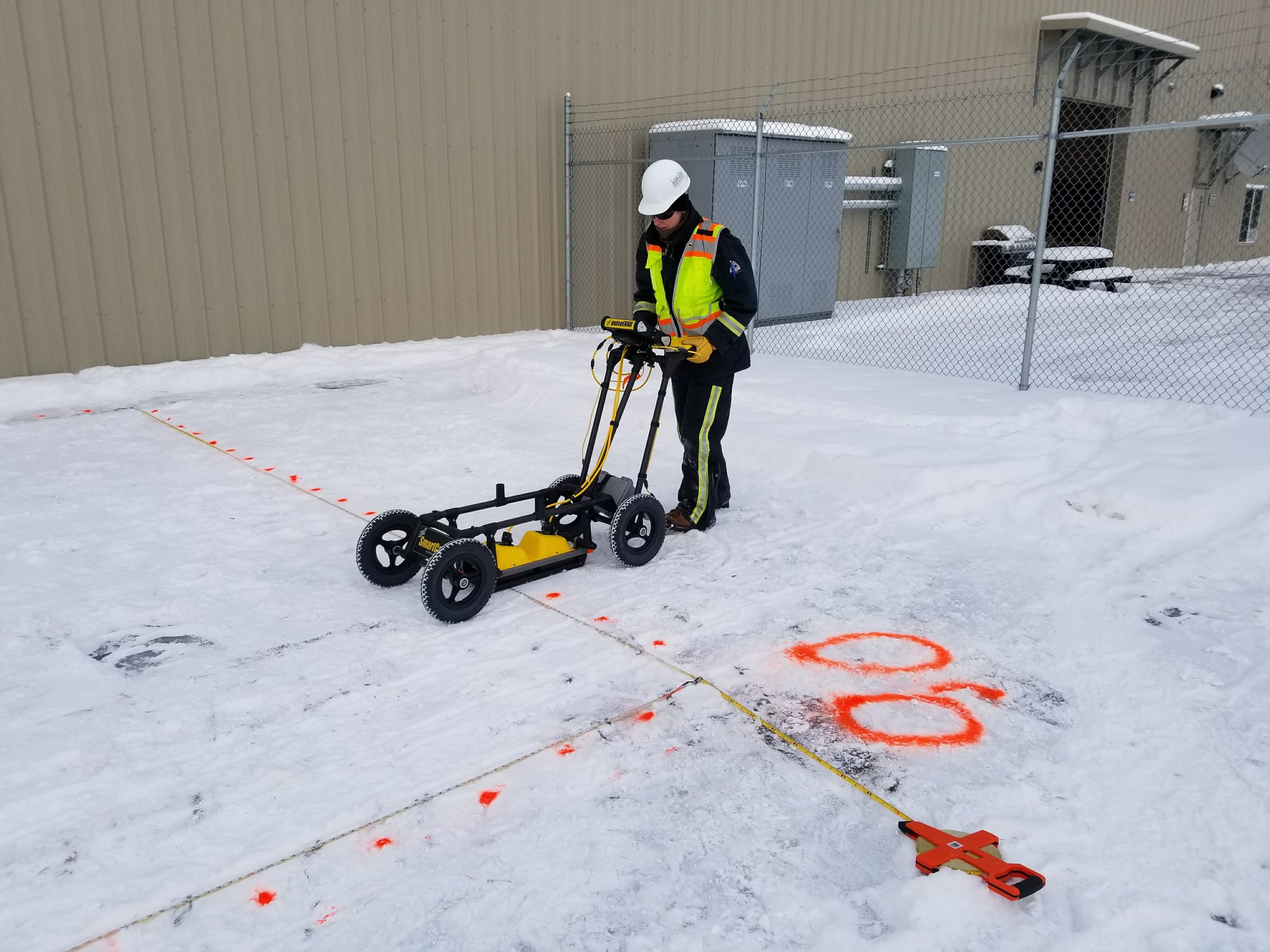 GPR data collection in winter at the Anchorage International Airport