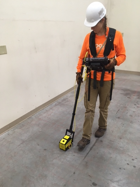 Using GPR on an interior concrete floor