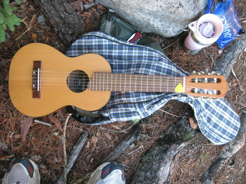 Guitalele - an ukulele with 6 strings.