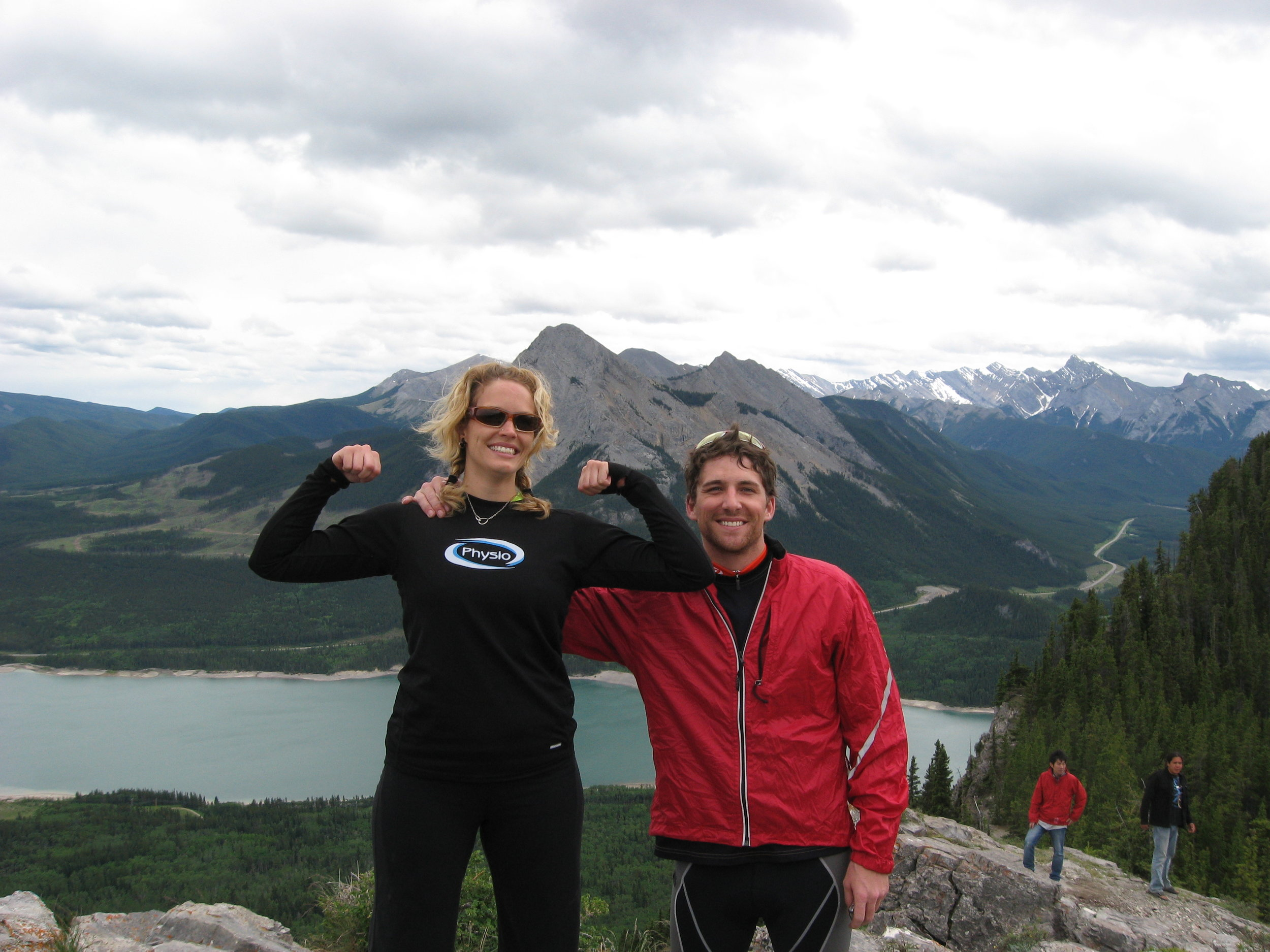 My brother and I top of a ride in Canmore. The only ride we have completed together so far.