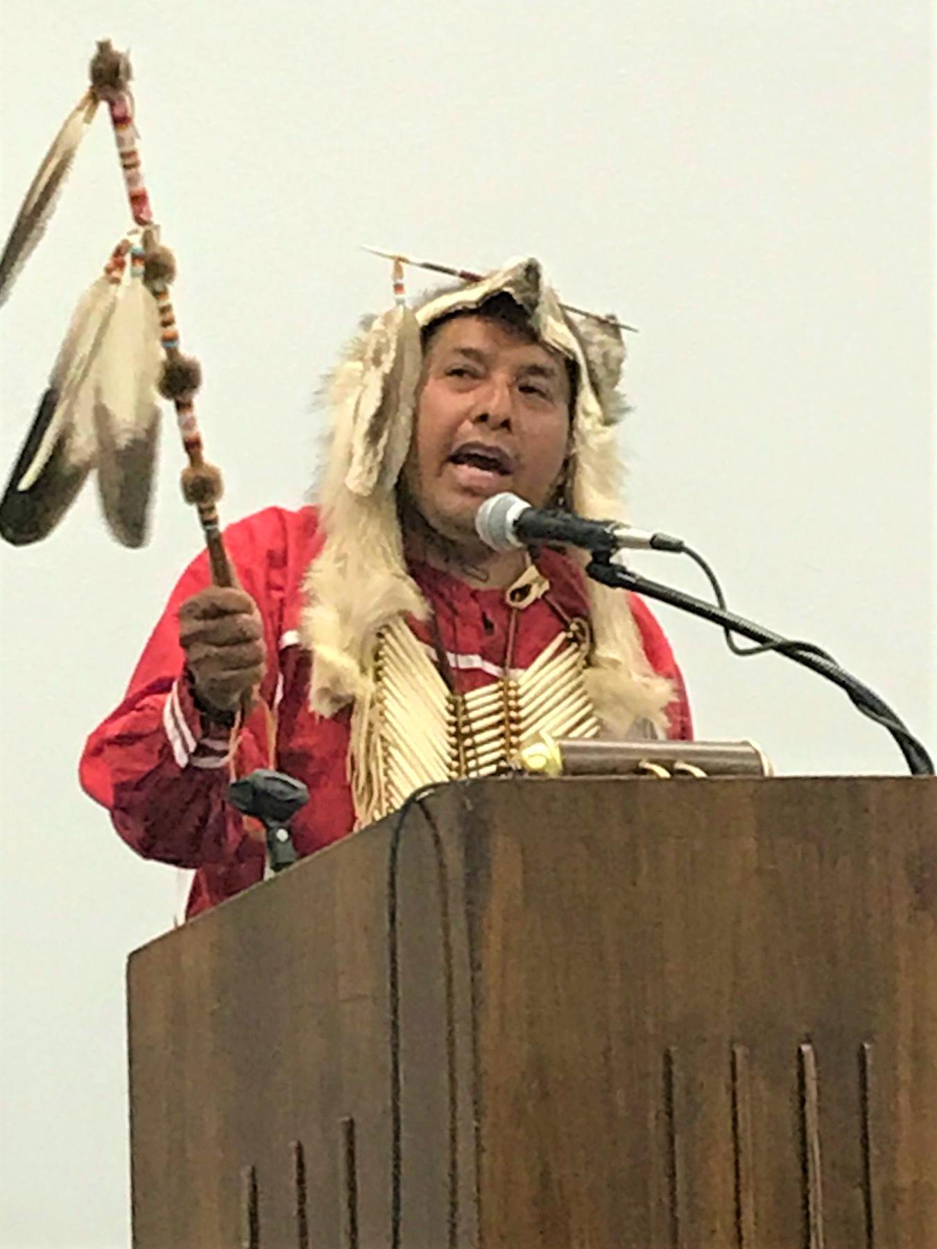 "Warren ""Jr."" Pratt, Pastor of Cushing Indian Baptist Church. Cushing, Oklahoma"