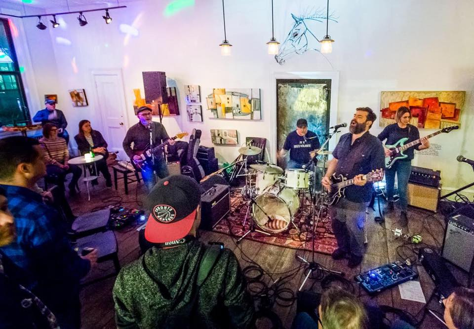 Area Resident playing at Orange Art Gallery - April 2018