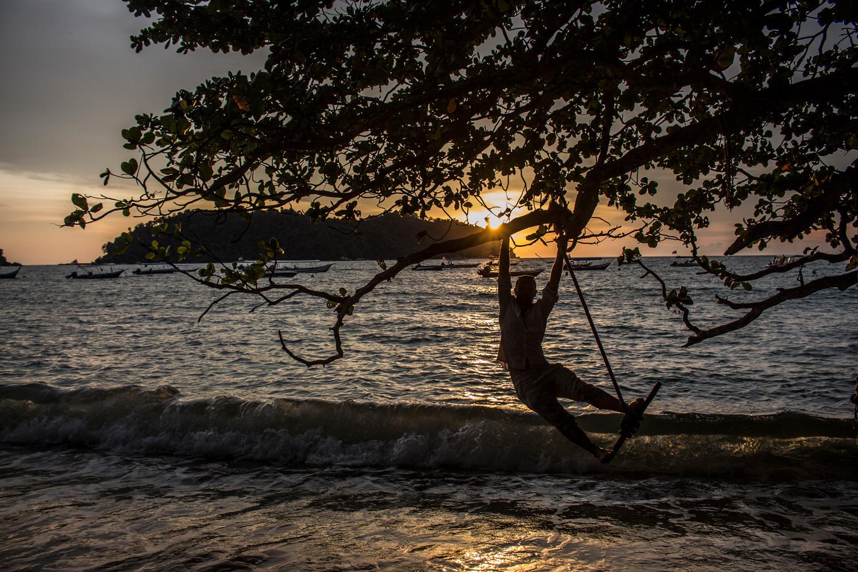 Ryan overlooks Pulau GIam