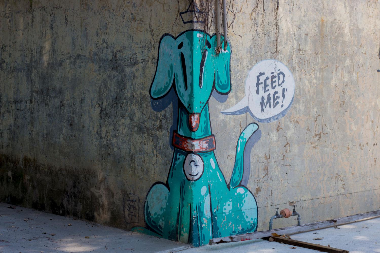 Puppy Graffiti In Pangkor