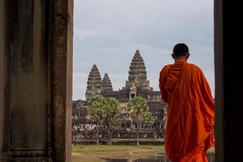 Buddhist Monk at Ankor Wat