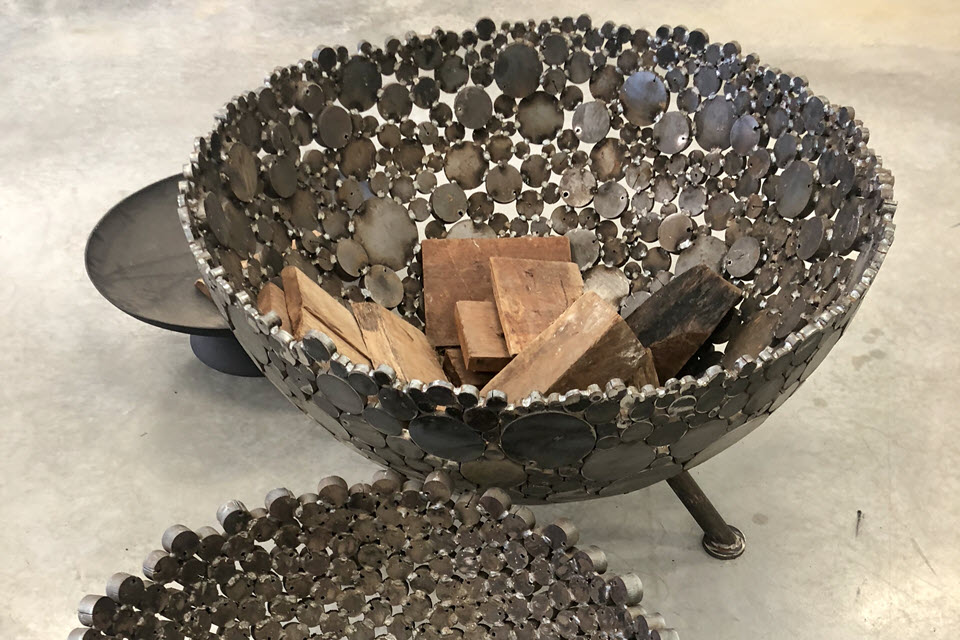 sculptured low line fire pits