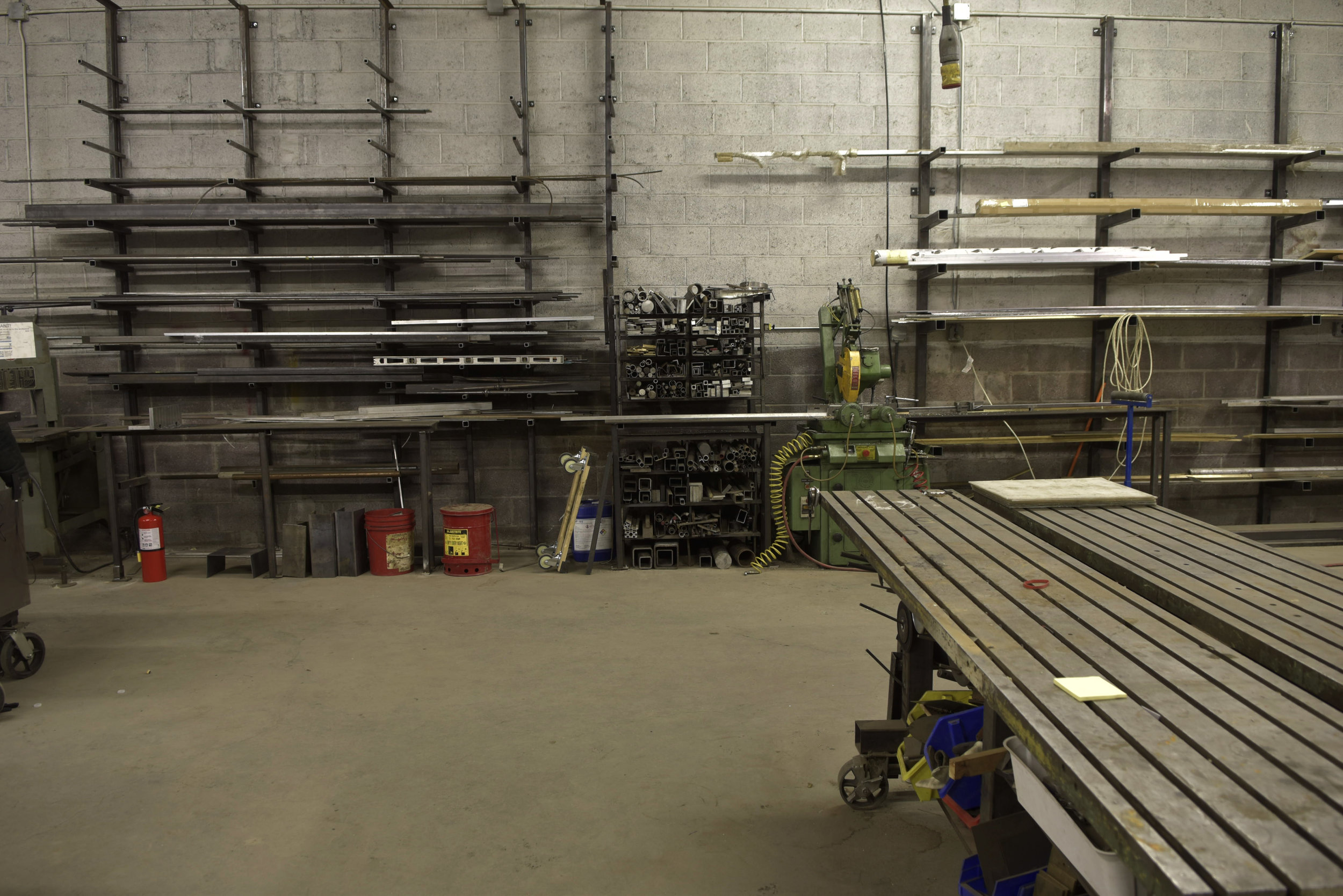 The metal shop is a fabricators dreamland with 4 cnc mills welders and excellent cutoff saws.