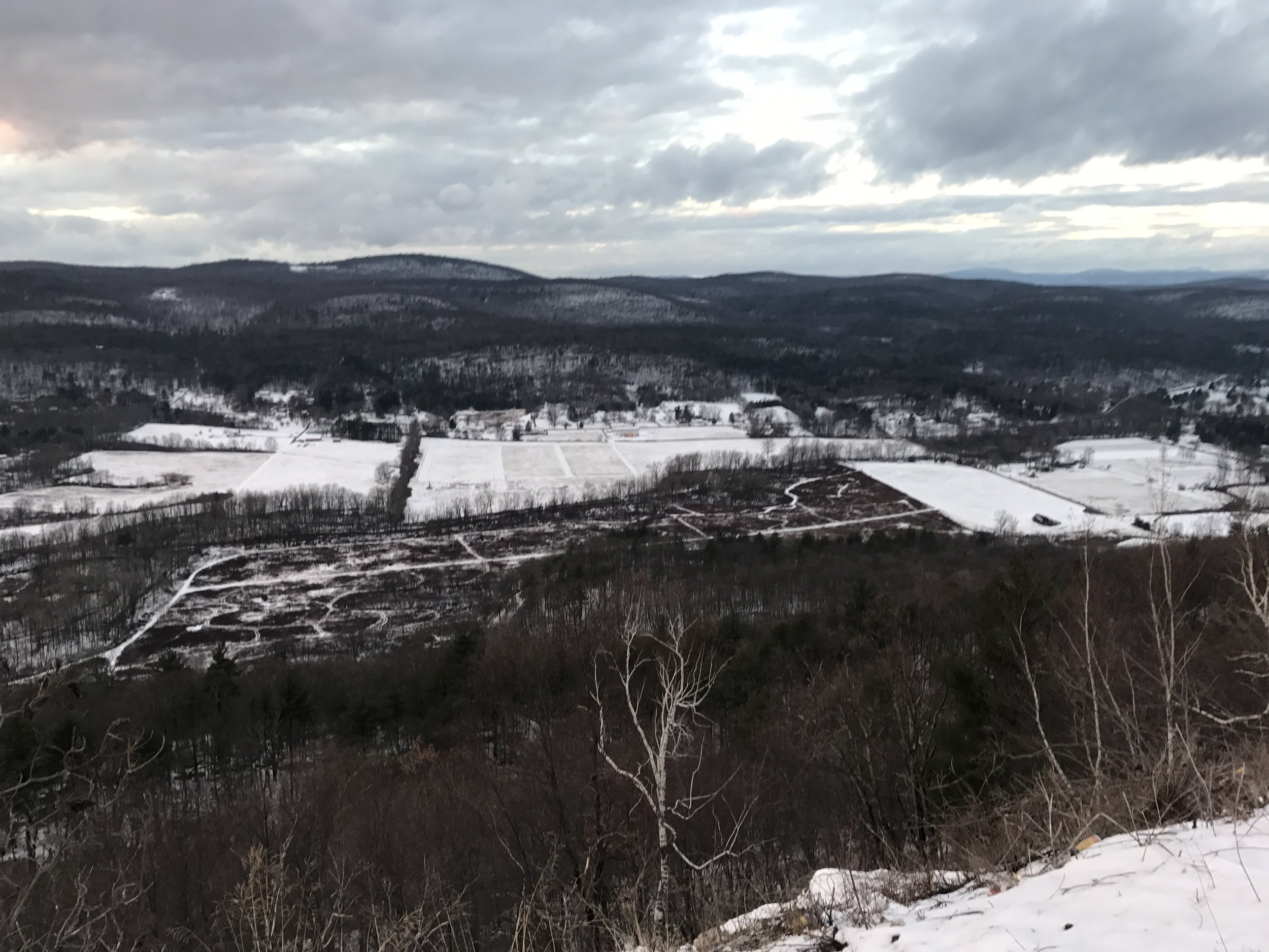A view of the area from the Shawangunk Ridge.