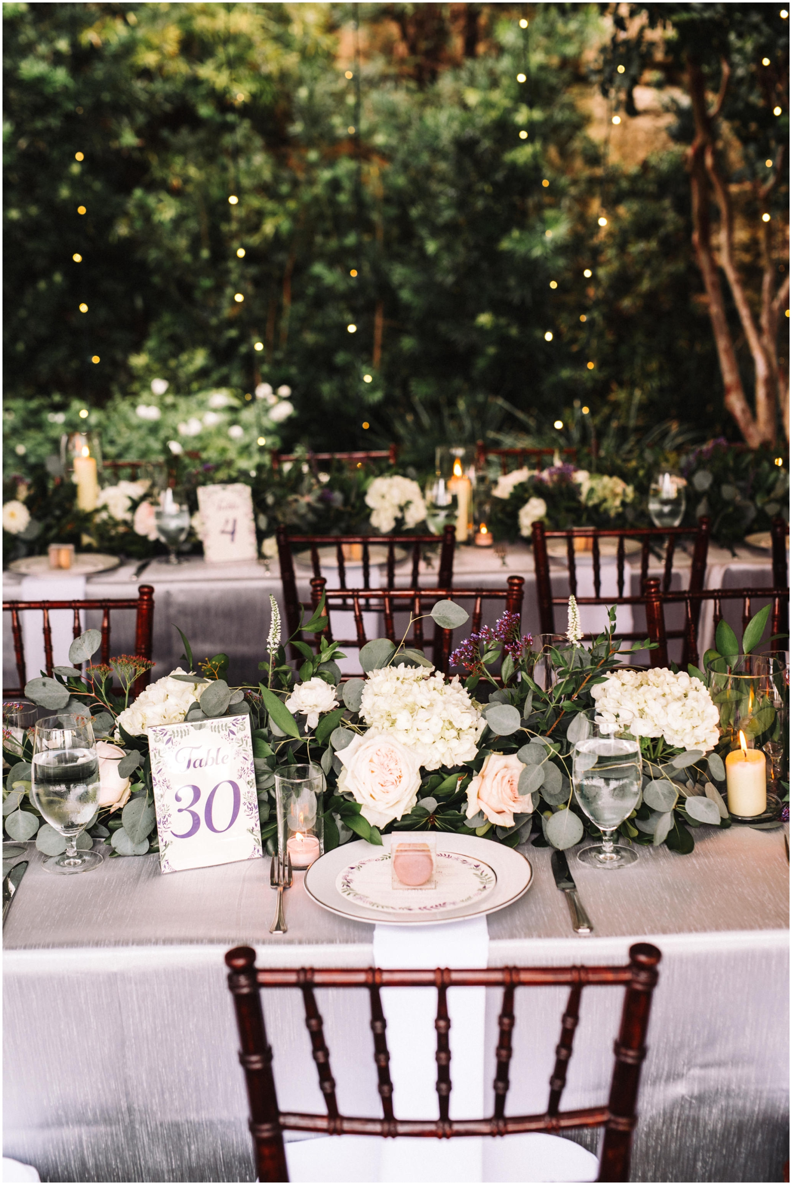 Elegant wedding tabletop