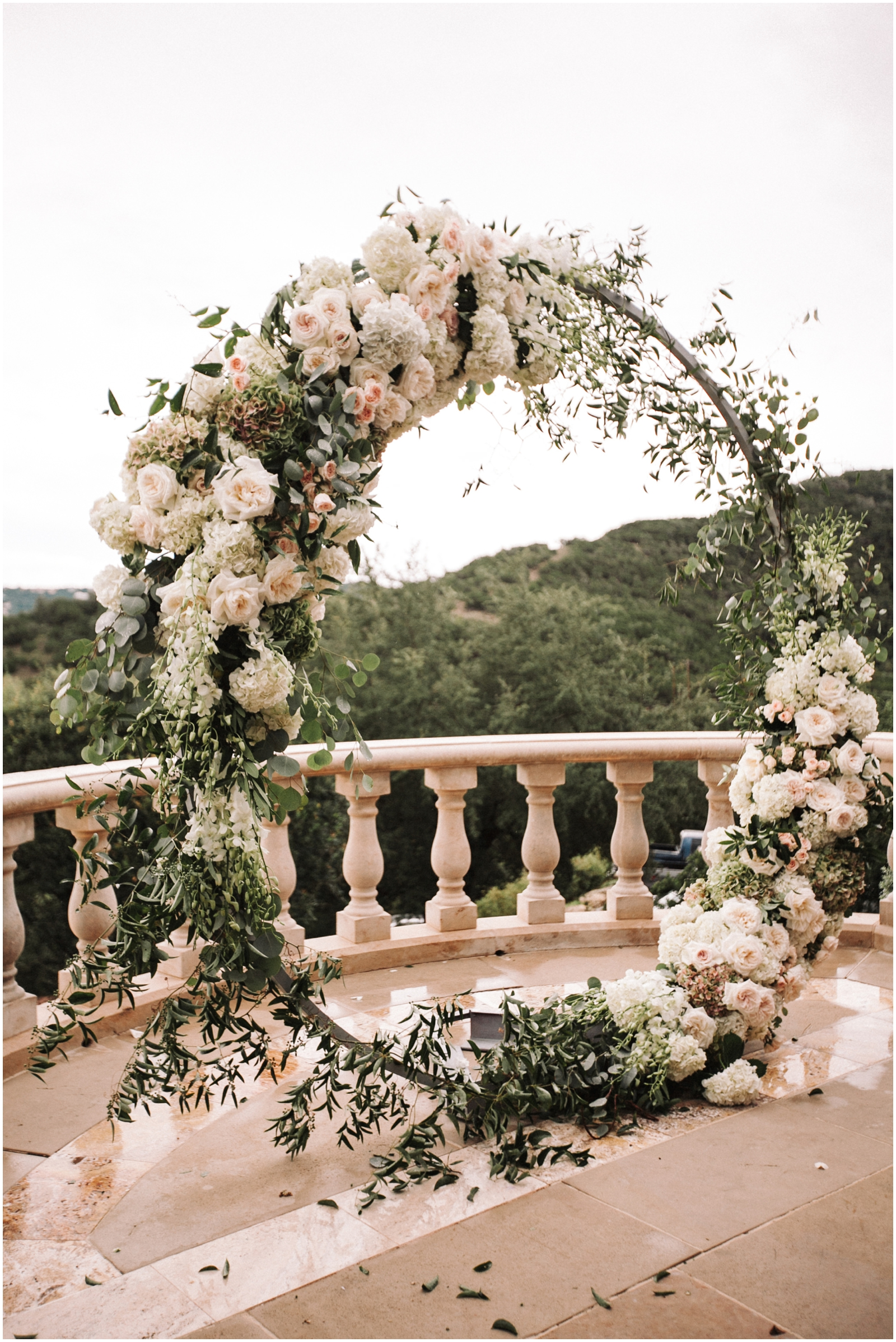 Gorgeous white floral wedding arch