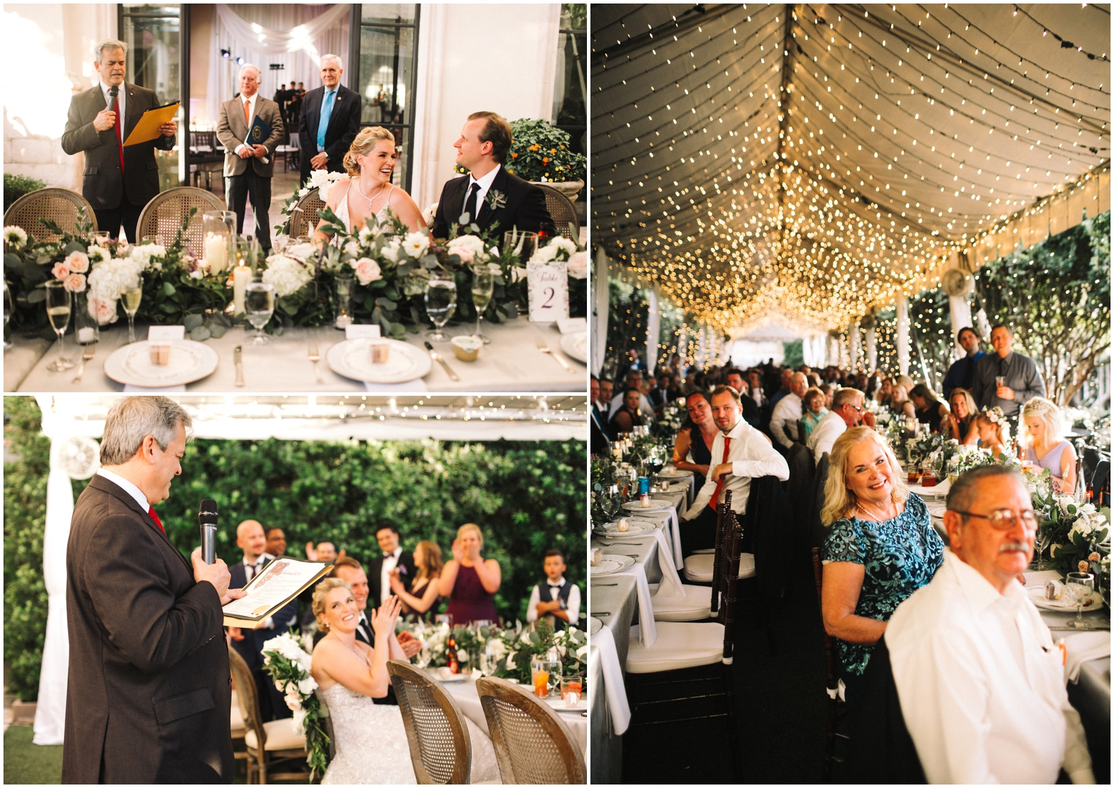 Austin Wedding Planner. String lights and greenery wedding
