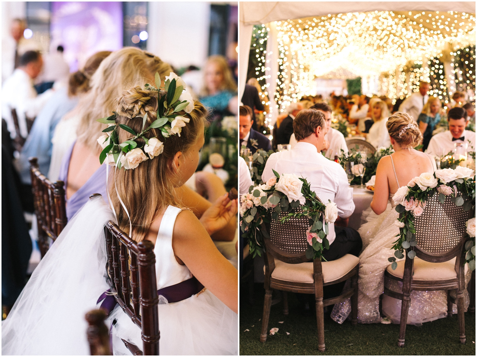Flower crown and White floral decor