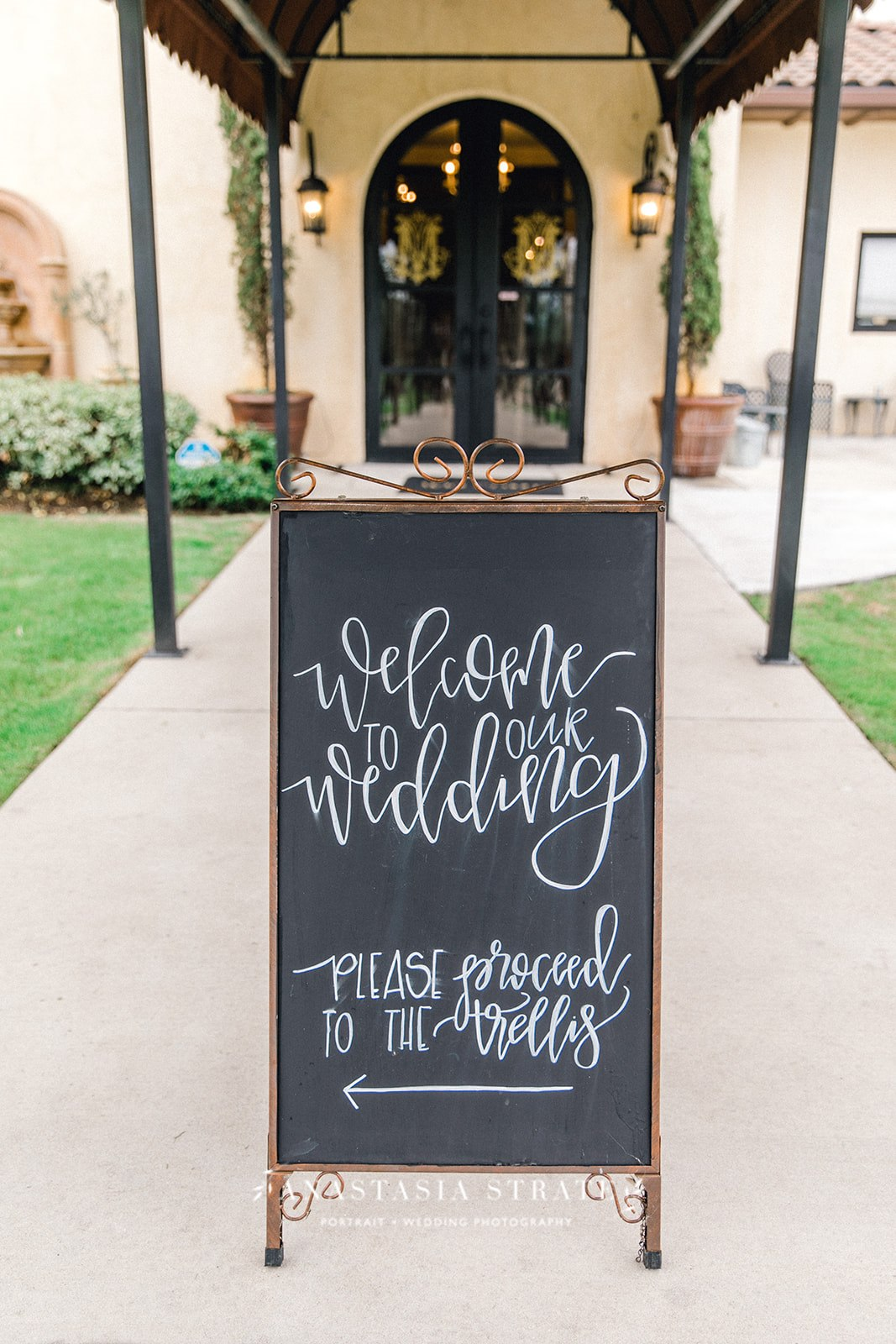 chalkboard wedding sign decor