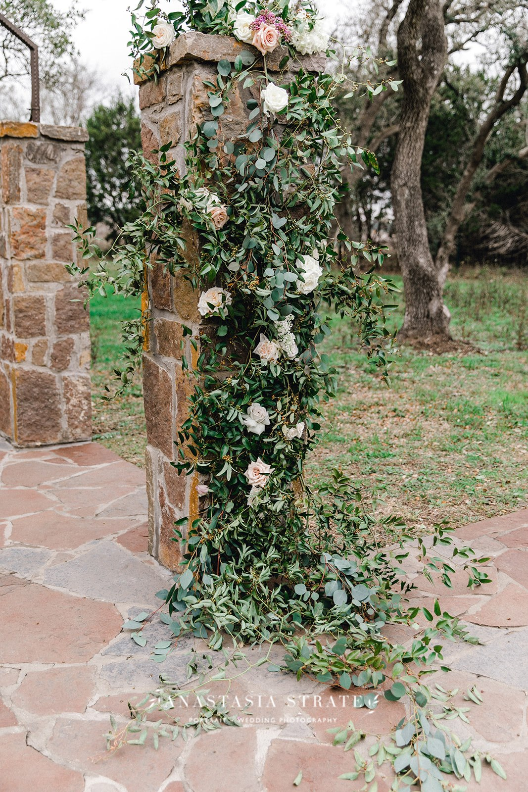 greenery wedding decor for Austin Wedding