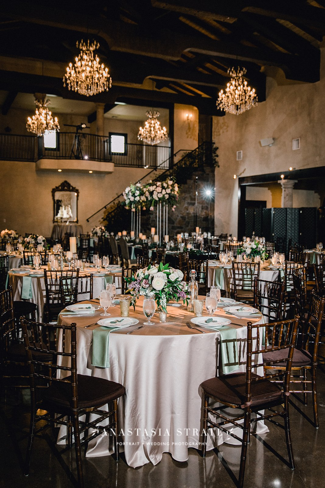 greenery wedding reception