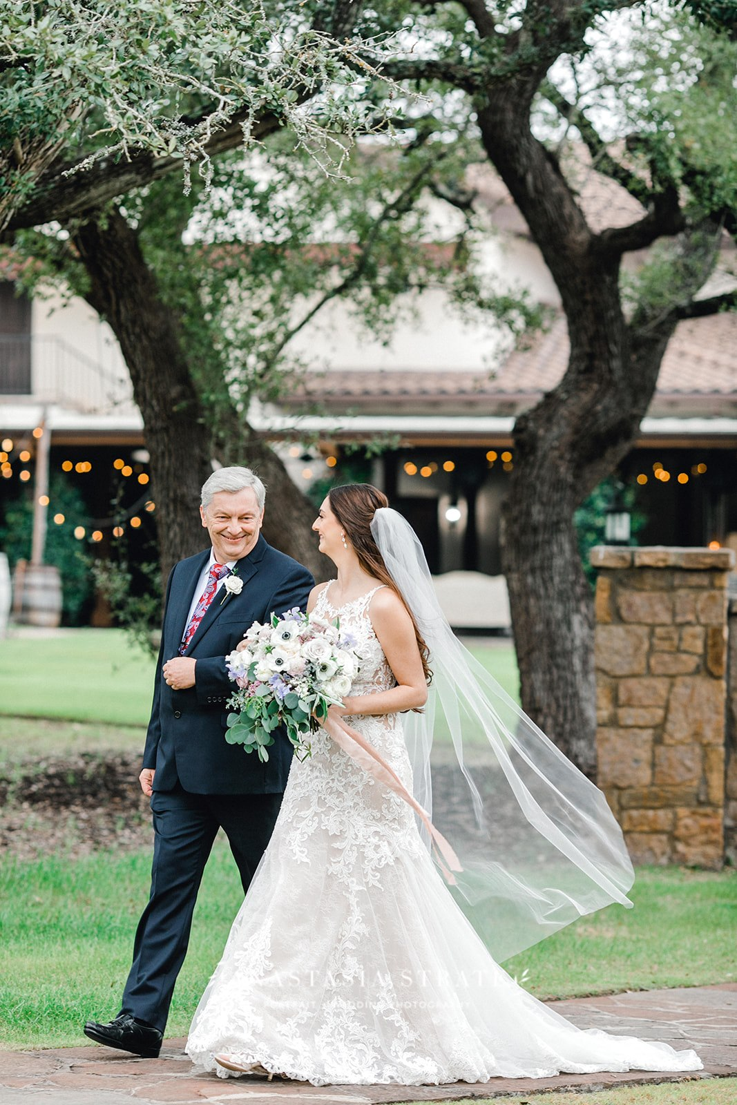 bride walking down the aisle for her Austin wedding