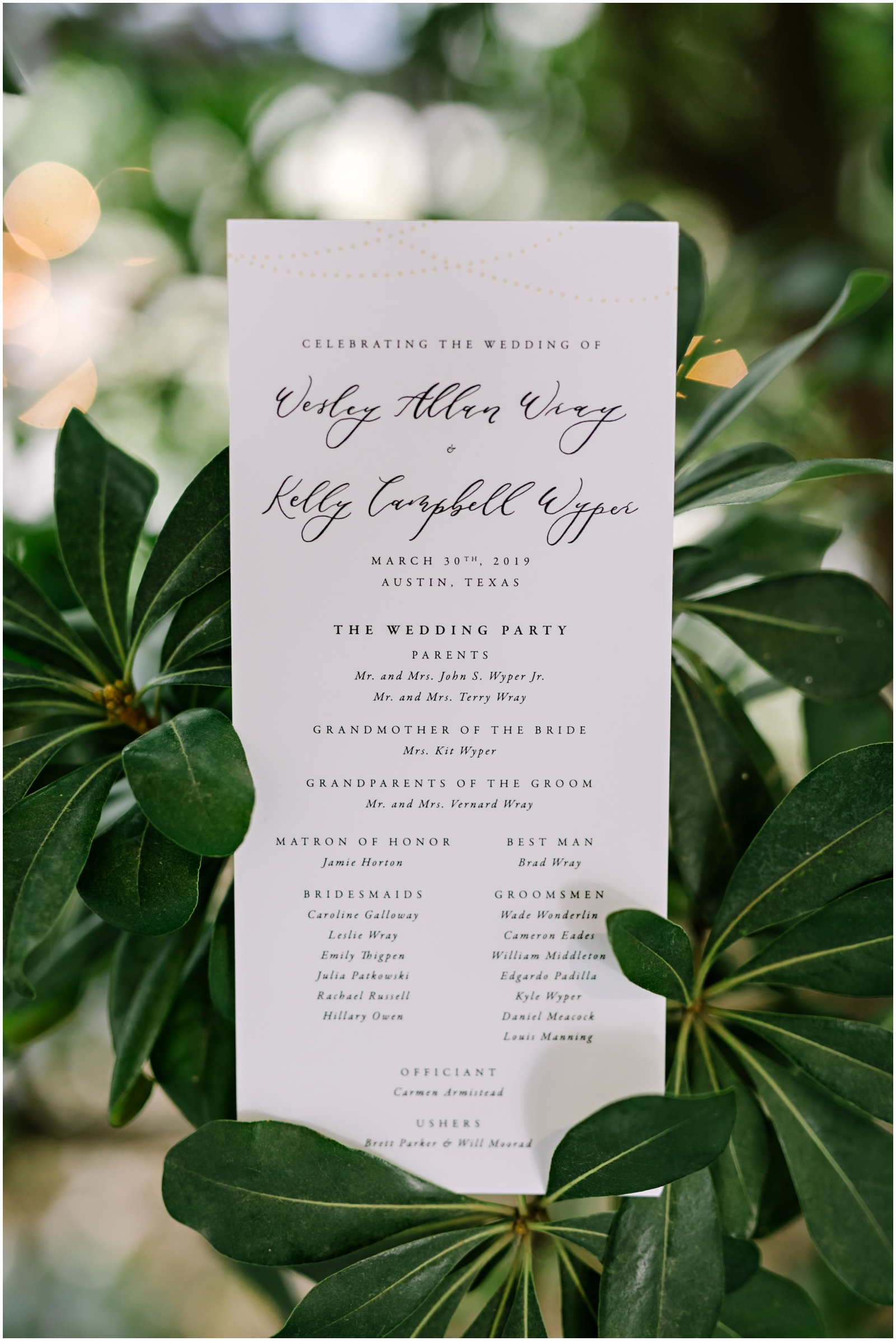 Minimalistic white wedding invitation