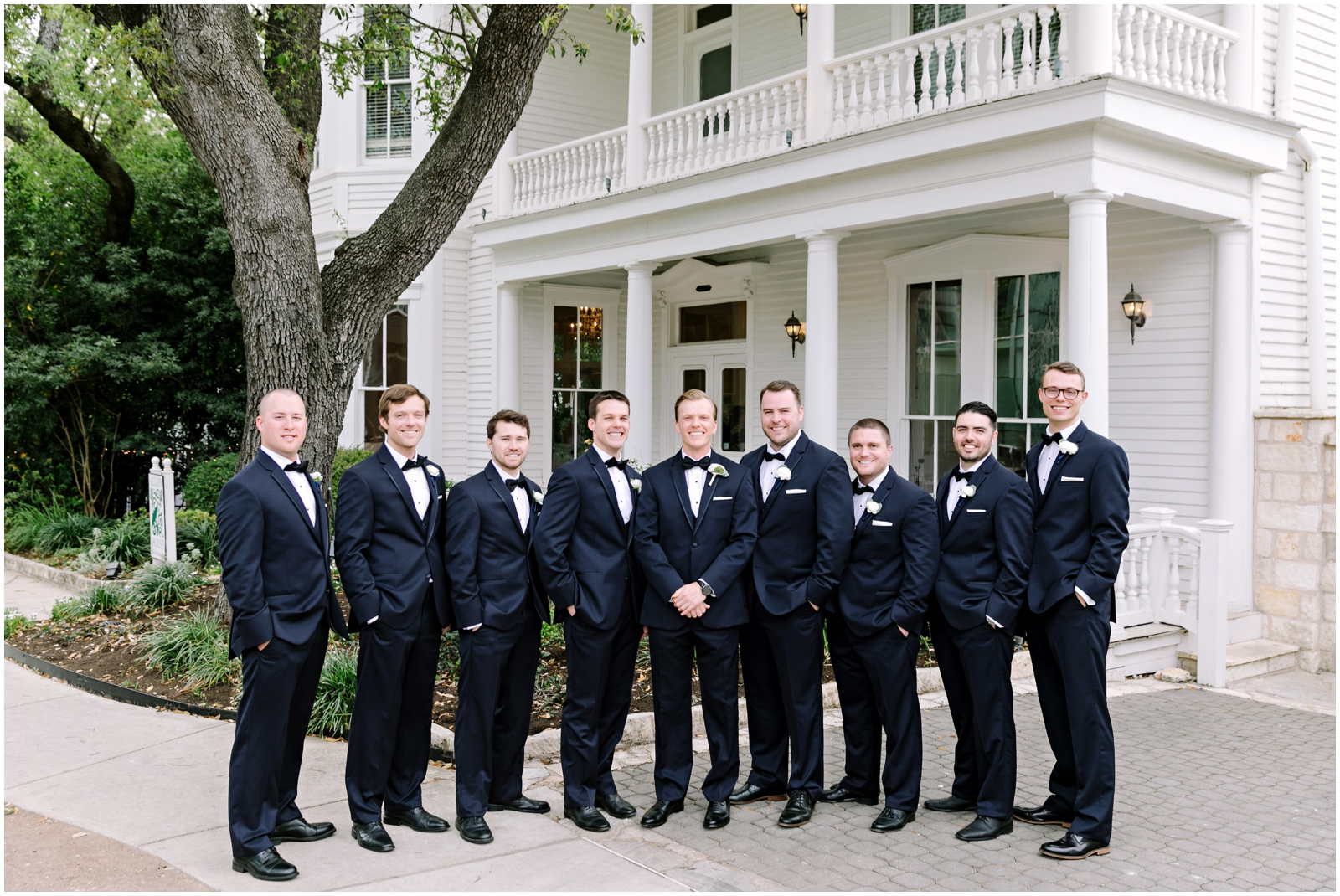 Groomsmen with the groom before the wedding
