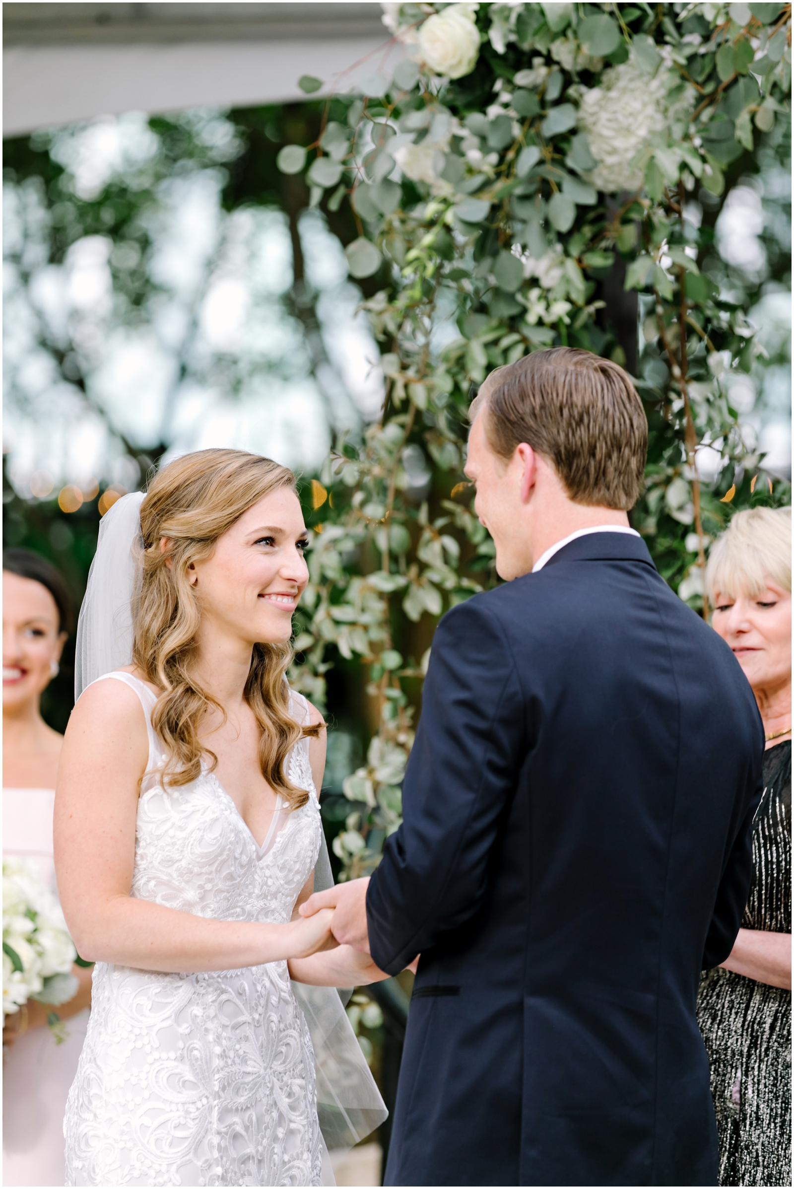 Garden wedding ceremony in Texas