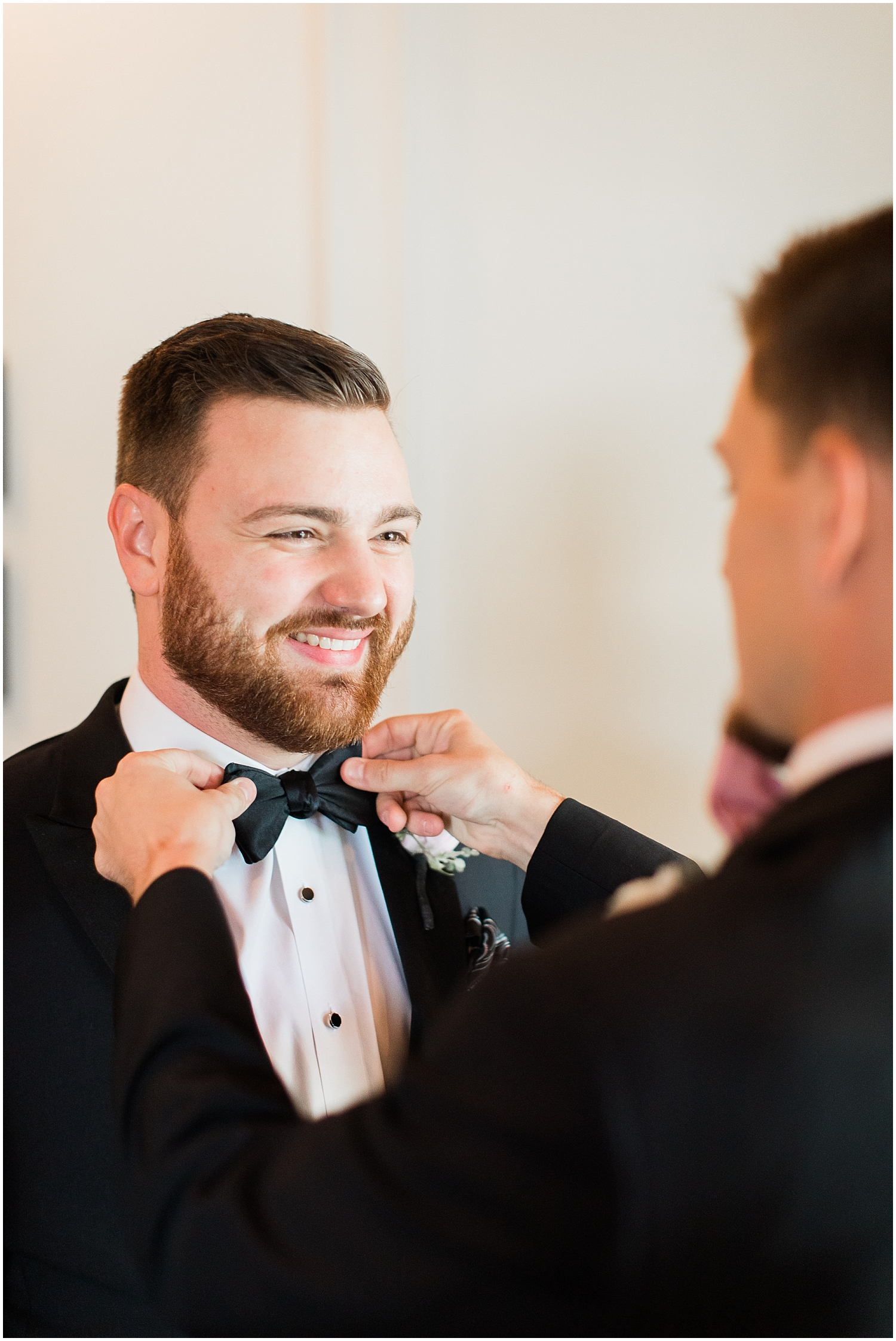 Groom getting ready for his Houston Wedding