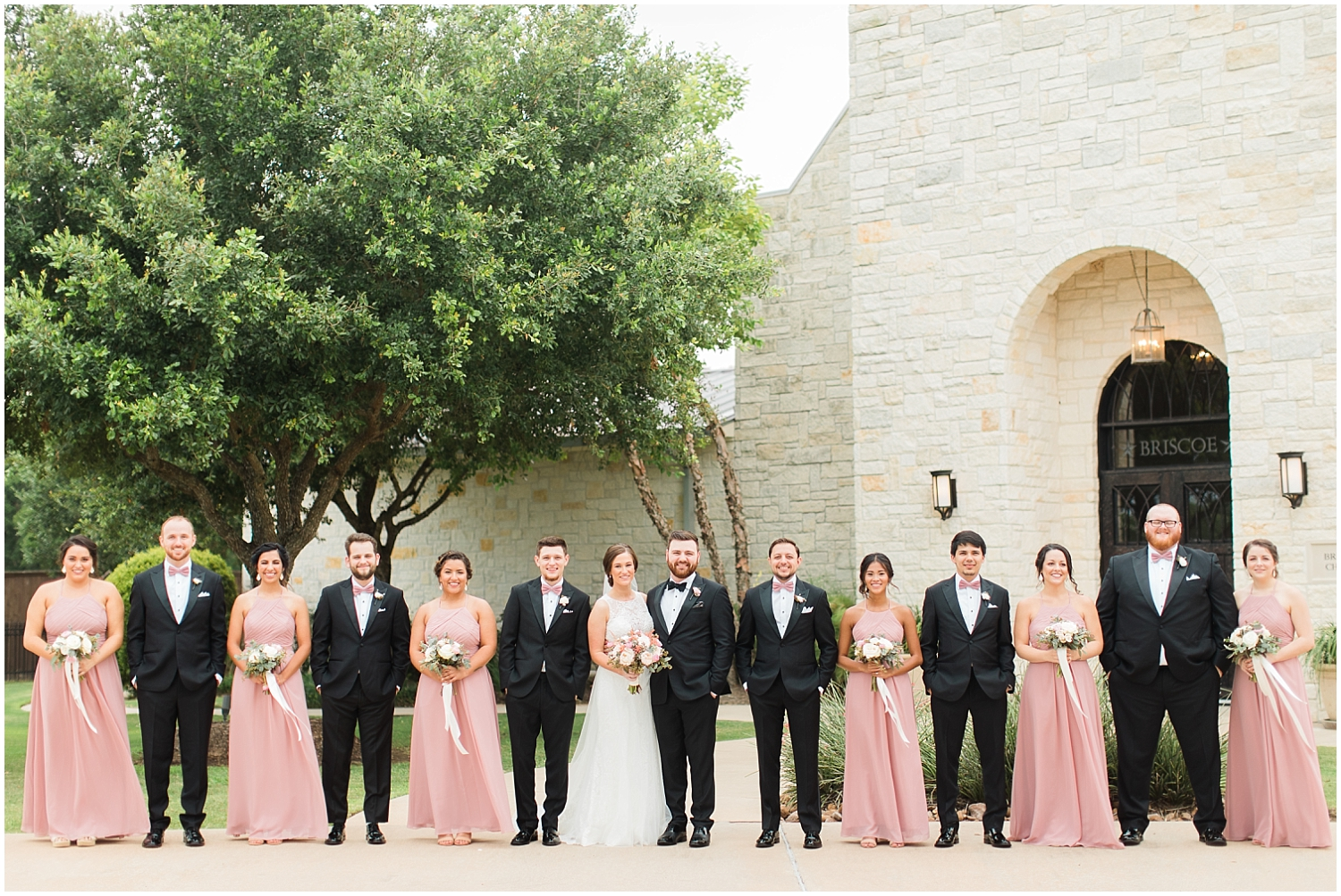 The Bridal party before the Houston Wedding