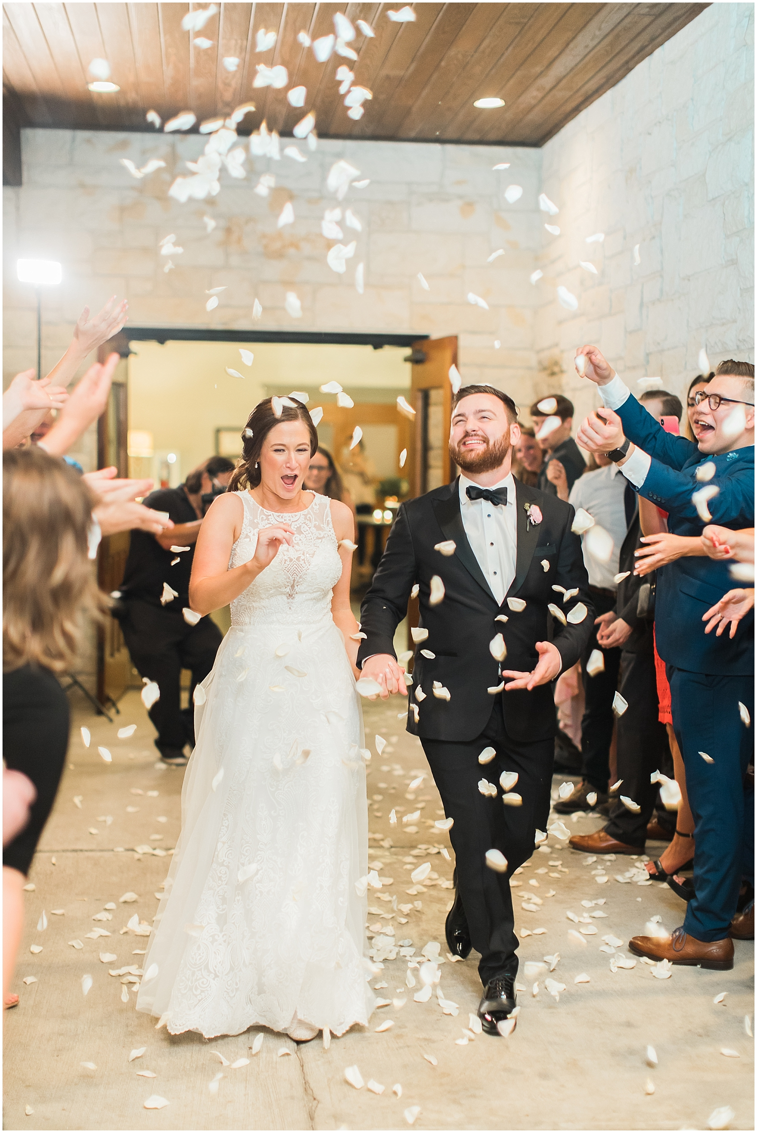 Confetti Bride and Groom grand exit