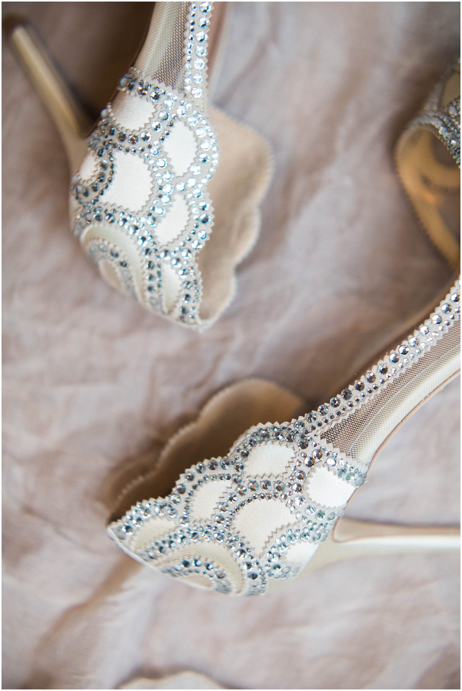 the bride's wedding shoes