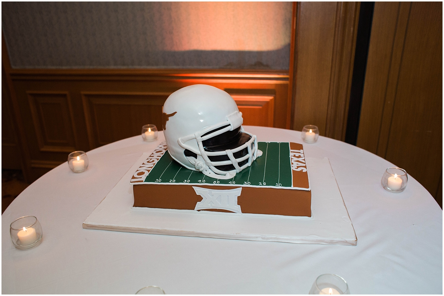 Football themed wedding cake TX