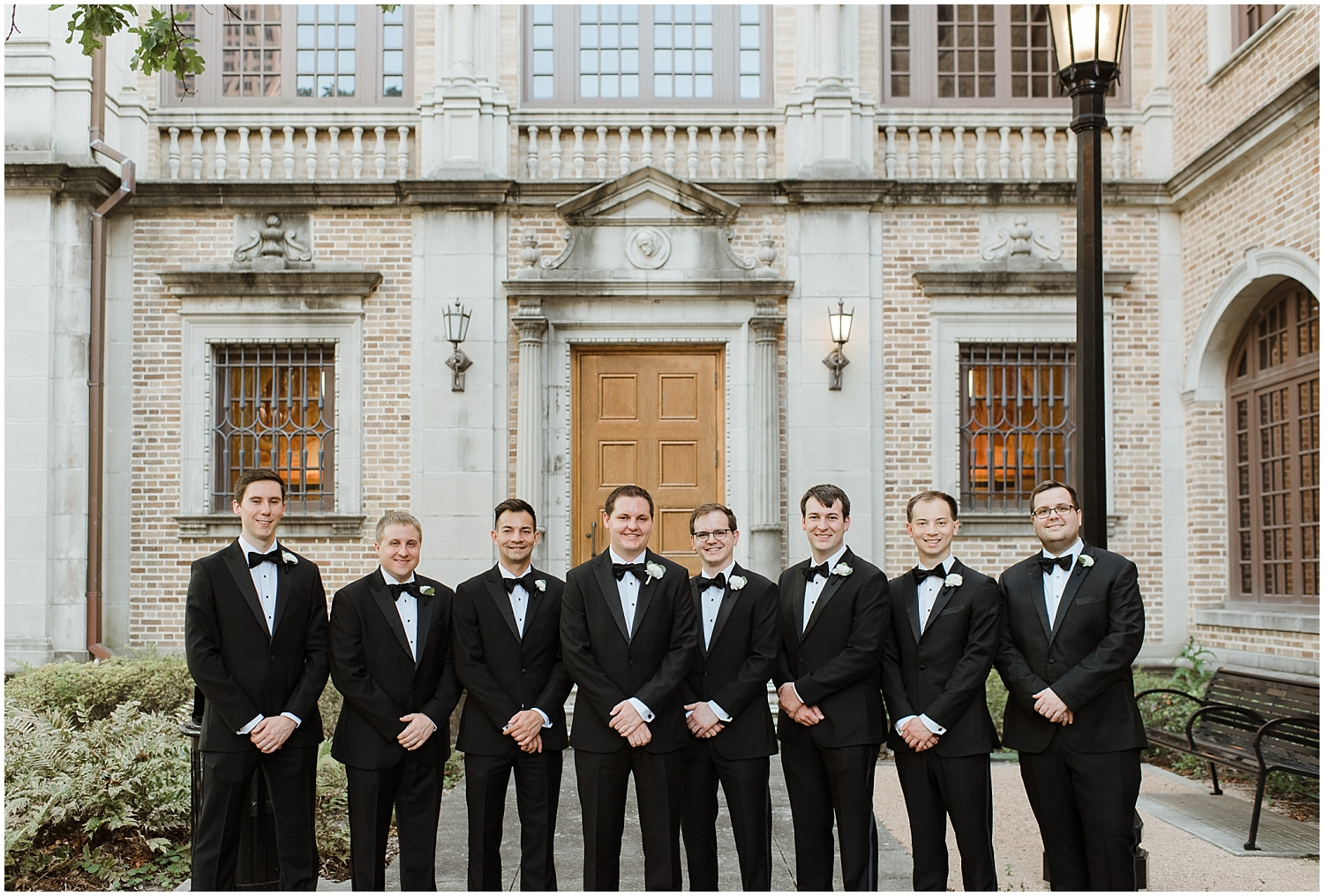 groom and the groomsmen before the wedding