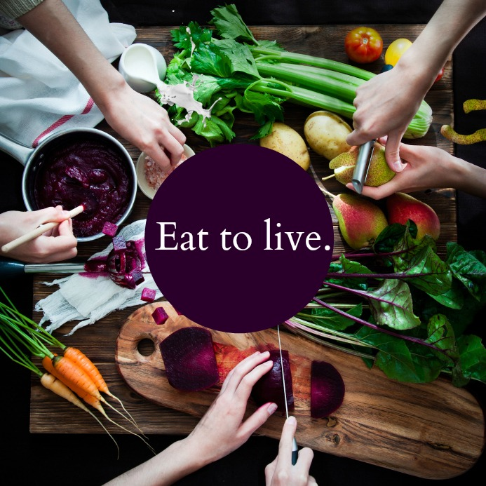 Whole, fresh, natural food, no crazy diets or depravation here!
