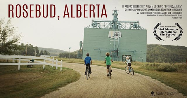 """Excited to announce that our documentary """"Rosebud, Alberta"""" will be premiering at @edmfilmfest on Sept 29th, playing at 3PM, City Centre Cinemas.  Rosebud, Alberta is an experimental documentary about a village in the heart of oil country that has turned to the arts to save it from becoming a ghost town. With attention to experience over exposition, the film shows a day in the life of this hamlet of 86 that attracts 40 000 theatre-goers each year.  More info at ericpauls.com/rosebuddoc  Directed by @ericpaulsproductions  Cinematography by @jankemichael  Music by @sarah.houston.music Houston and Eric Pauls Production Manager @kylaferrier  Sound Design by Phillip Dransfeld Camera Assistant and daily inspiration @noahmleach  Thank you @rosebudtheatre for opening their doors to us and we acknowledge the support of the @canada.council 