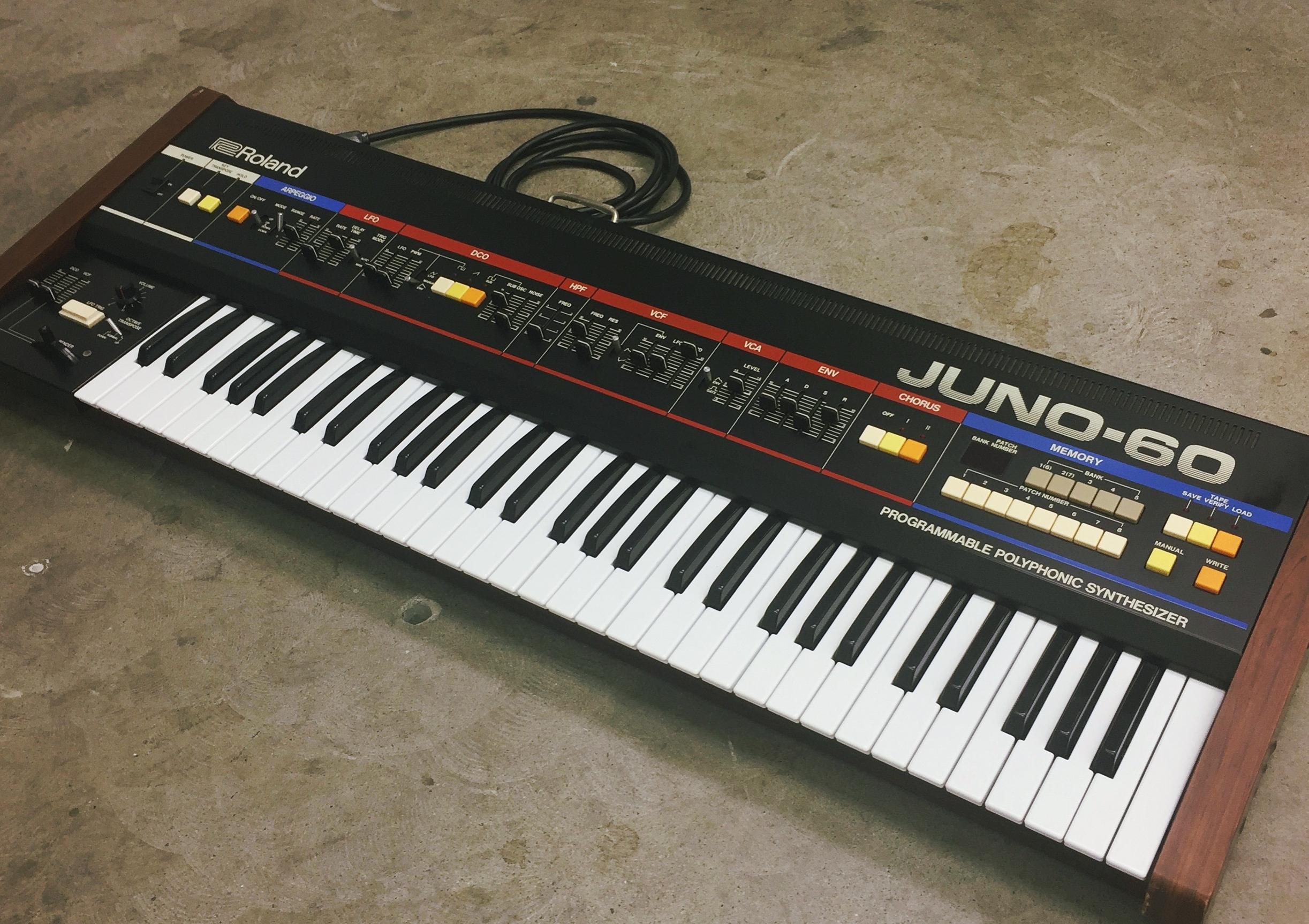 Roland Juno 60 Vintage Synthesizer Nightlife Electronics
