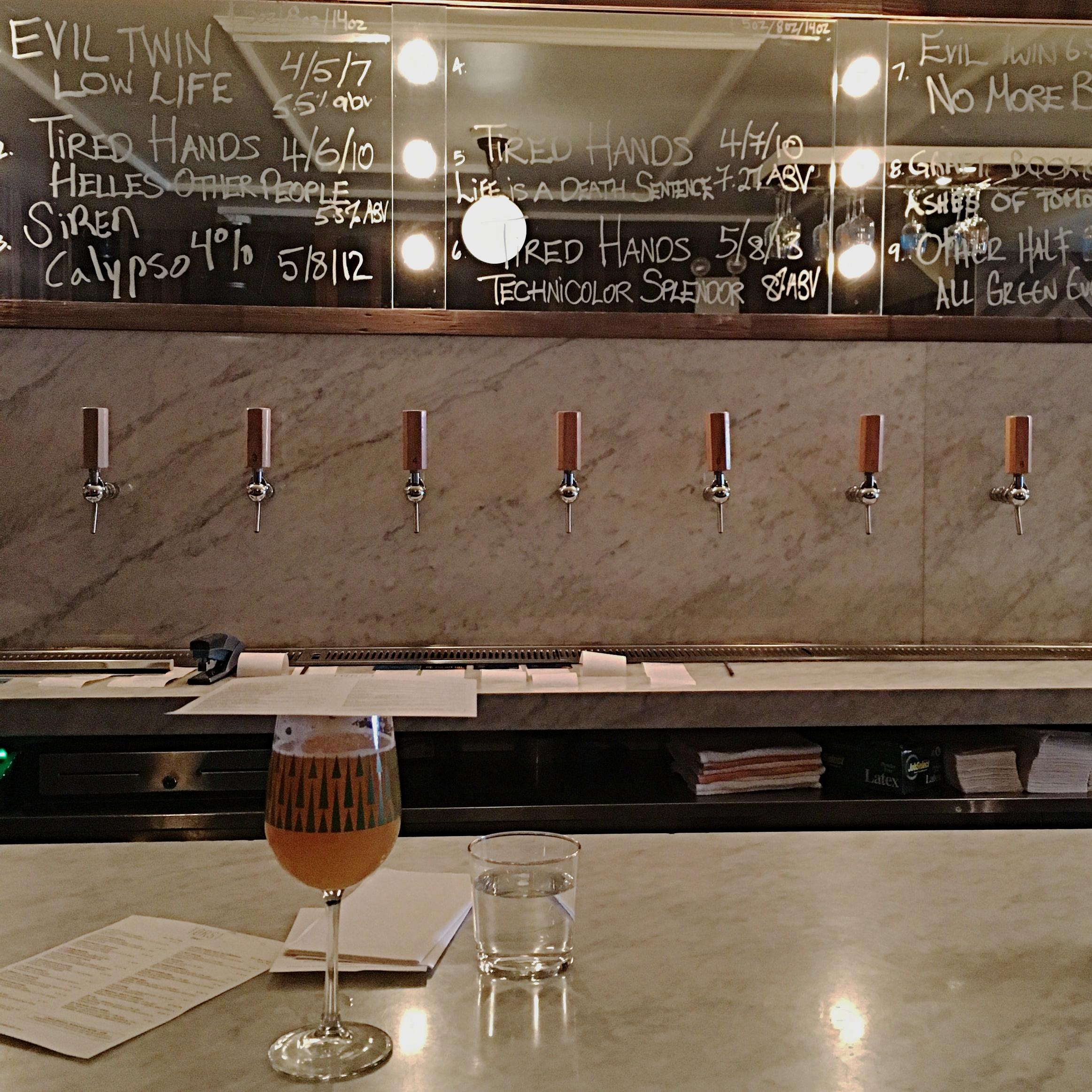 The bar at Tørst, Brooklyn NY