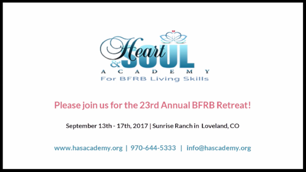 For those struggling with Body-Focused Repetitive Behaviors (BFRBs) such as hair pulling, skin picking, nail biting and related behaviors, the Heart and Soul Academy is hosting its 23rd Annual BFRB Retreat this fall in Loveland, CO from September 13th - 17th, 2017.  To learn more, visit our retreat page  https://www.hasacademy.org/annual-retreat