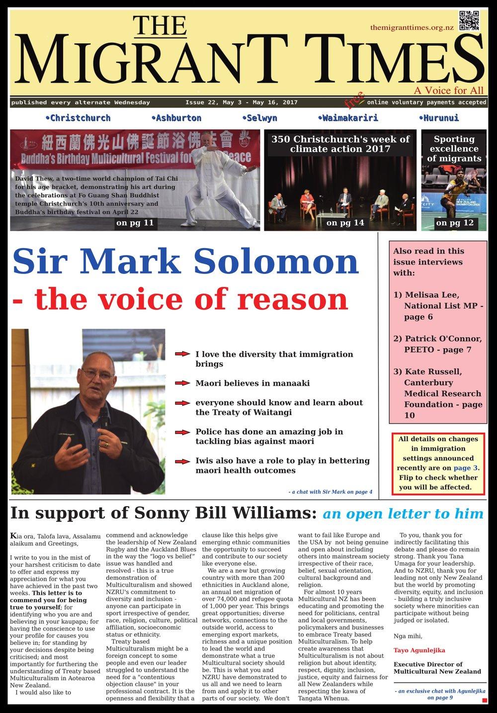 Issue 22, May 3 - May 16, 2017