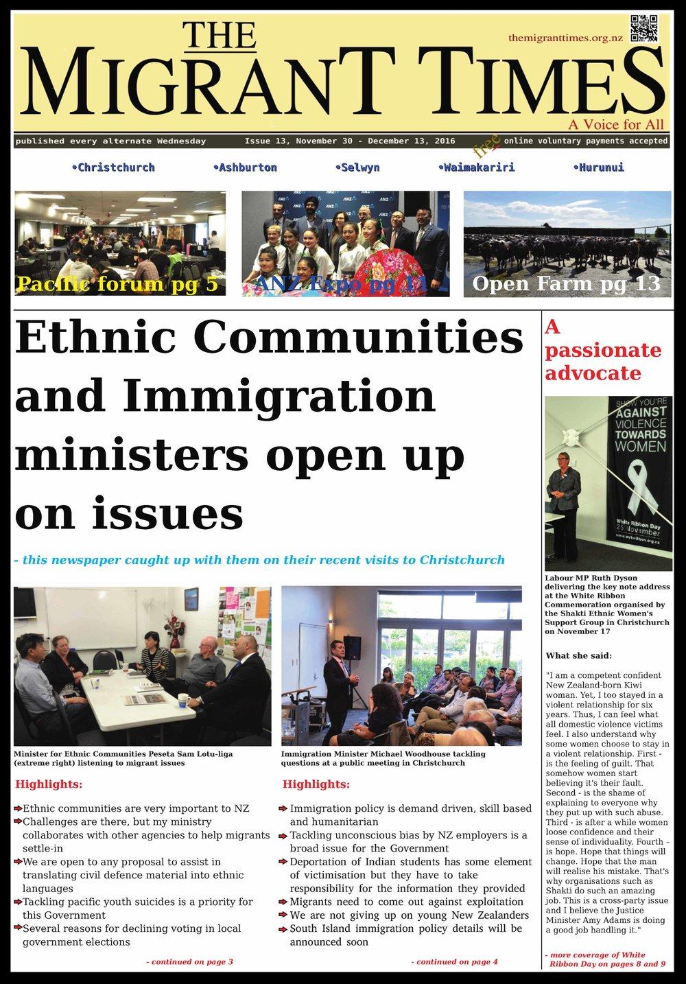 Issue 13, November 30 - December 13, 2016